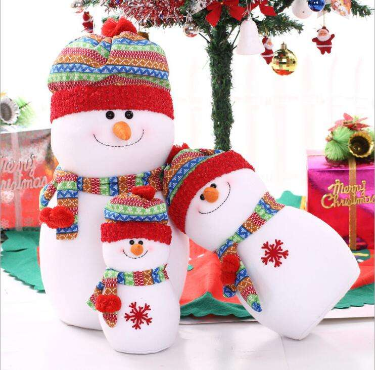 New Christmas Foam Snowman Doll Pendant Christmas Tree Hanging Ornaments Festive Party Supplies