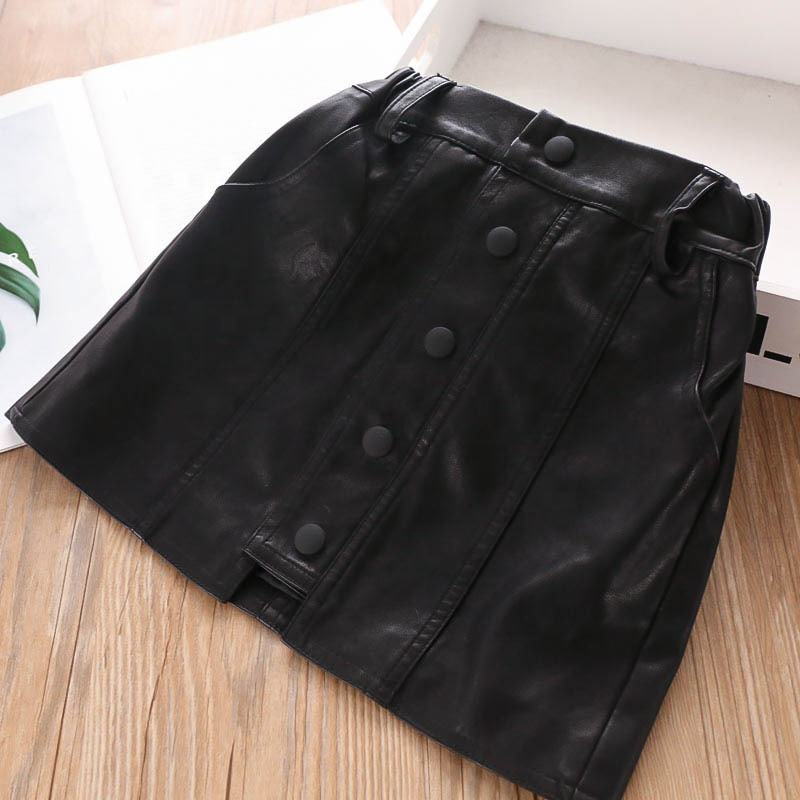 autumn little girl skirt leather black fall toddler baby skirts boutiques clothes children clothing 328745533