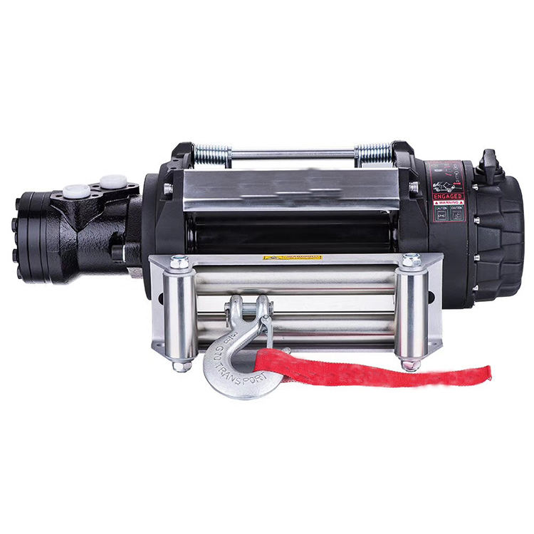 high quality factory wholesale Industrial Portable 12V 12000 lbs hydraulic winch manufacturers