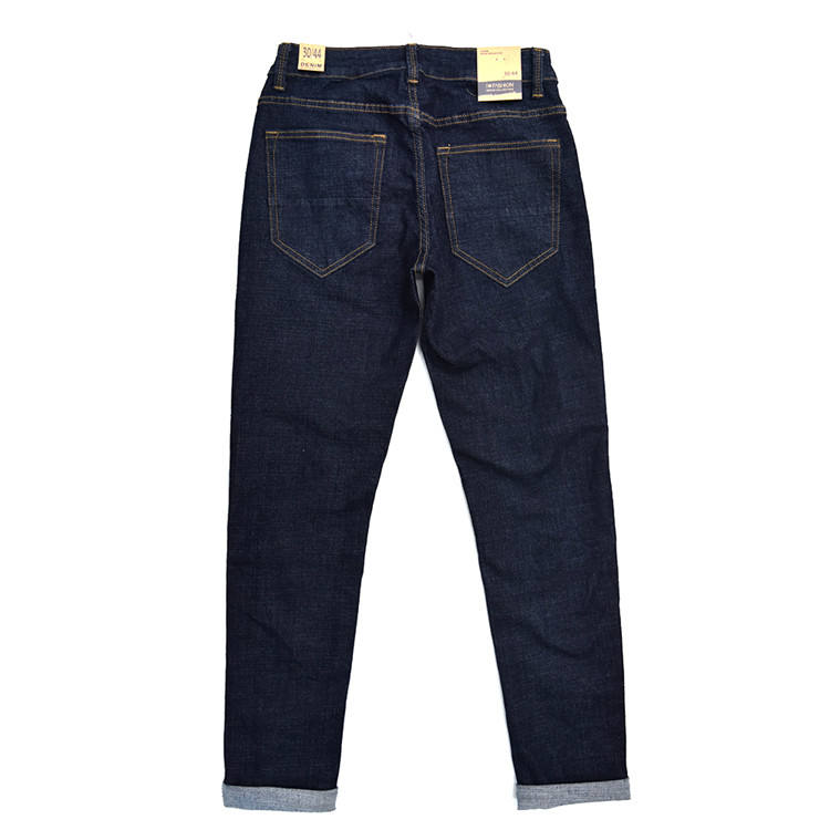 Dark blue fashion male brands italian boy jeans for chemical wash