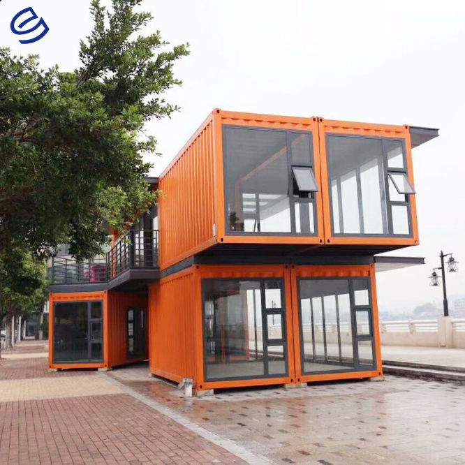 Super low cost prefabricated homes fast build light steel prefab house 2 bedroom prefab house