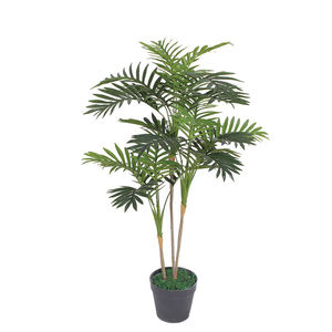 Factory direct sale indoor decoration lifelike artificial palm tree leaves artificial plant bonsai