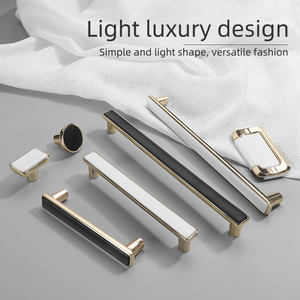 New Metal Door Cheap Modern Cabinet Drawer Knobs Bedroom Furniture Decorative Gold And Black Handles//