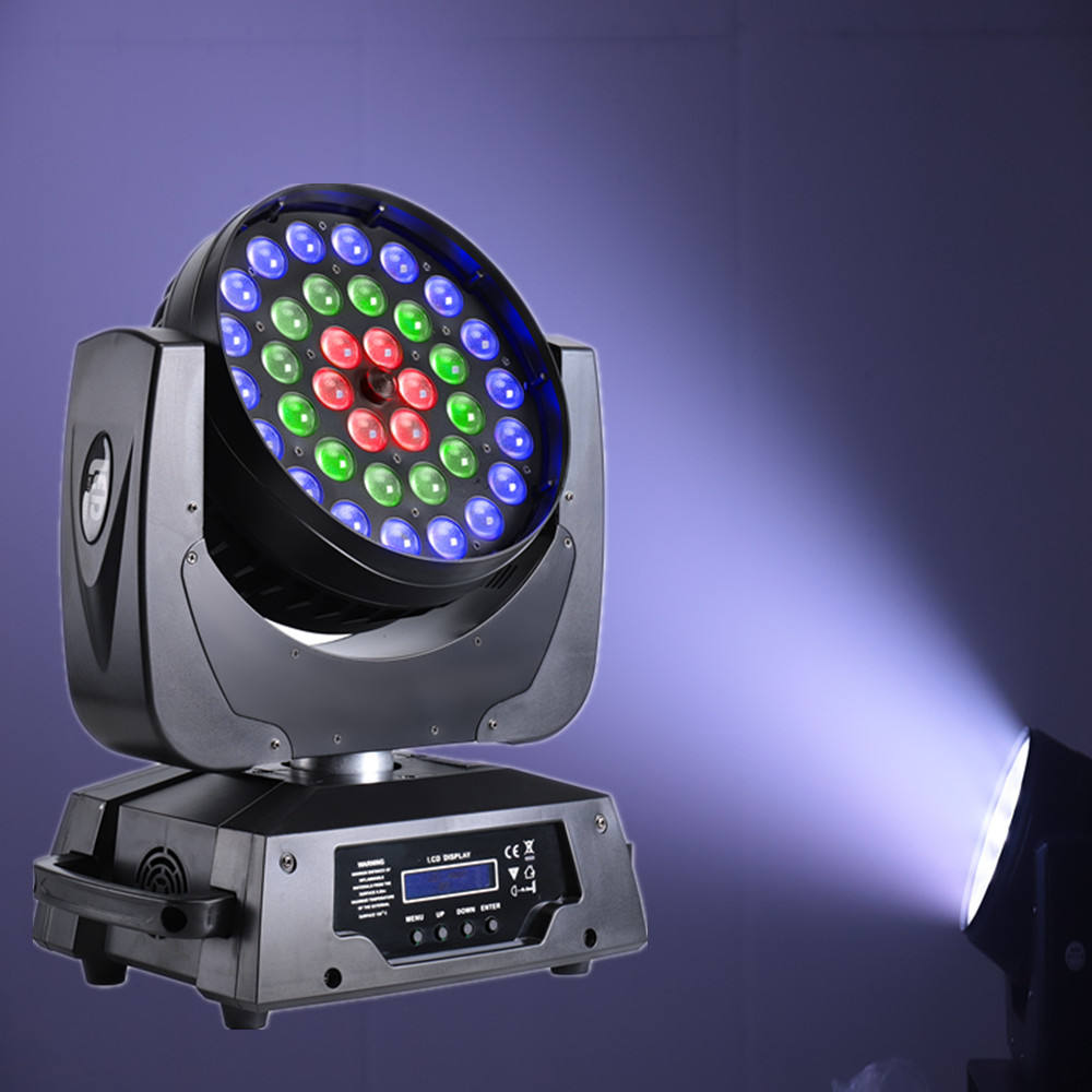 Hot sale dmx rgbw led 4 in 1 36pcs 10W led dmx512 stage lighting moving head wash light