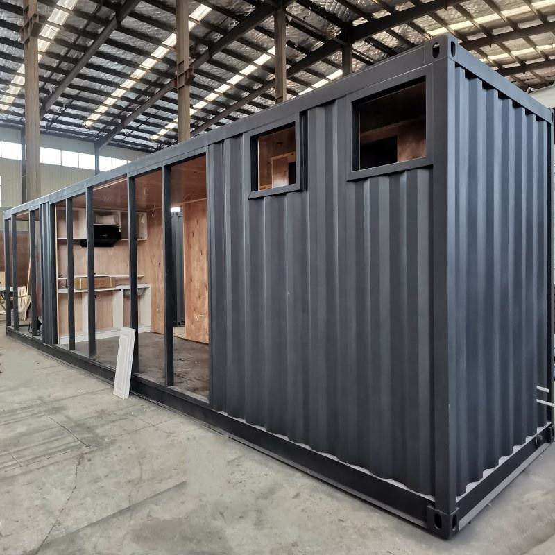 India Spain German wholesale New design cargo cheap ready made economic prefab empty isolated 40 ft container homes for sale