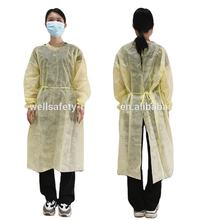 510k aami level 2 3 coverall sms disposable factory workwear suit uniform work gown yellow blue cpe apron gown lab coat iso ansi