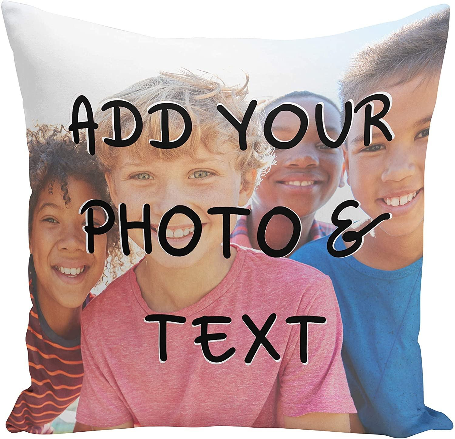 Custom Photo Pillow Case Personalized 18 Inch Printed Decorative Throw Pillow Cover
