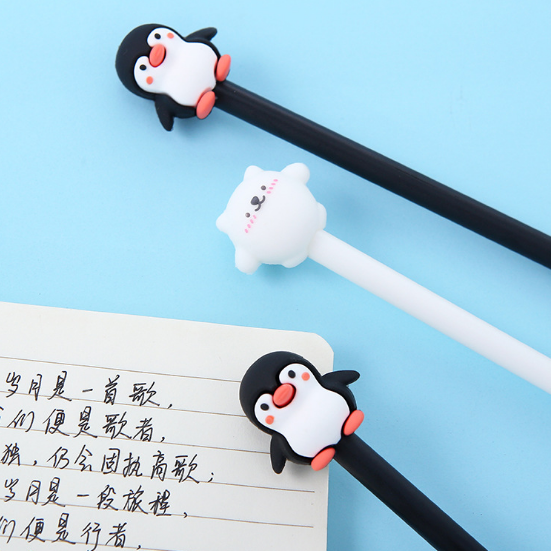 Kawaii Penguin 3d Rubber Gel Pen Cartoon Rollerball Pen Sofun Gel Pens