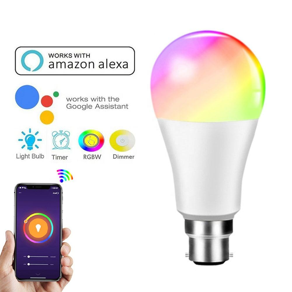 Bombilla Led inteligente funciona con Amazon Alexa, Google asistente, bombillas regulables para residencias KTV