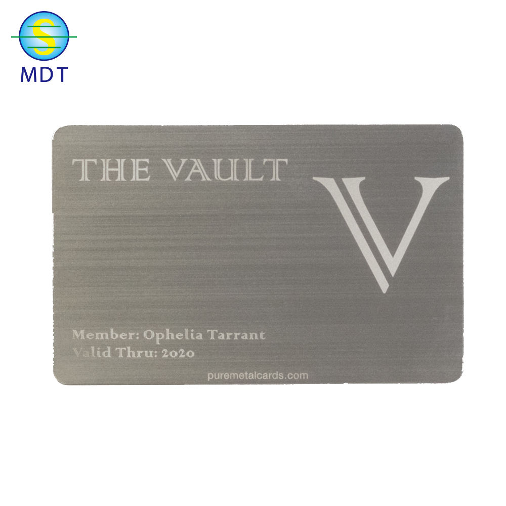 High quality blank engraving cheap metal cards printer