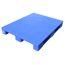 Blue single face 3 Legs Solid Deck HDPE euro plastic pallet