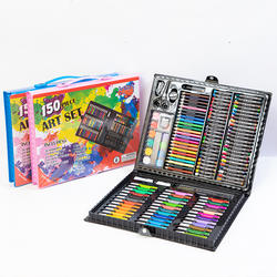 150 Pieces Children's Brushes Gift Box Student Watercolor Pen Art Painting Set Stationery Learning Oil Pastel