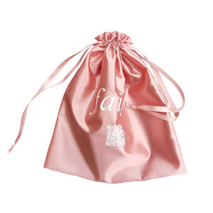High Quality Wholesale Jewelry Shopping Custom Logo Private Label Gift Wig Packaging Dust Satin Shoe Bag Pouch