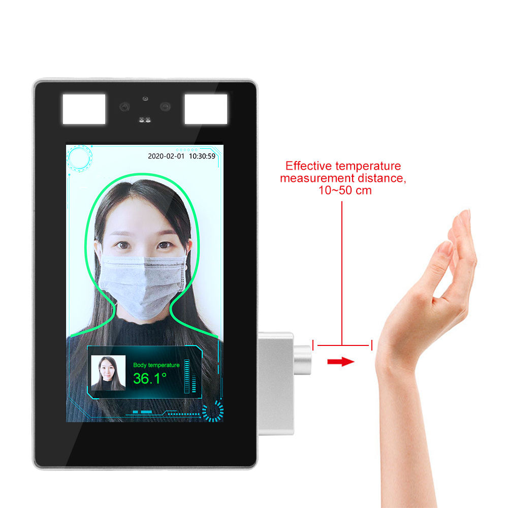 7 Inch HD LCD Display Face Recognition Camera Wrist Temperature Measurement Thermal Imaging Camera