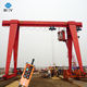 Solid Lifting Ability Electric 5 Ton Single Girder Gantry Crane Statistics With Hook