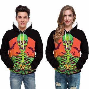 2021 hoodie thickened oversized solid color skull custom logo printed pattern hoodie unisex men's hoodie