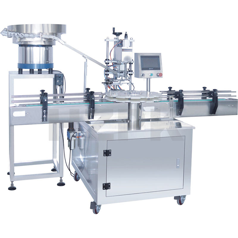Automatic Capping Machine China Automatic Ropp Plastic Glass Perfume Water Pet Bottle Can Crown Cap Capping Sealing Machine