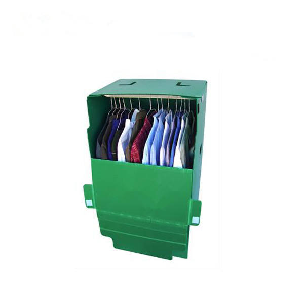 wholesale Custom High Strength Moving Cloth Storage Foldable Portable Corrugated Plastic Wardrobe Box