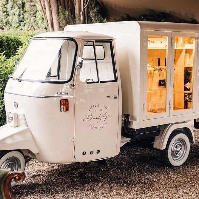 Piaggio Ape City Europe Tuktuk prosecco van for sale mobile beer bar