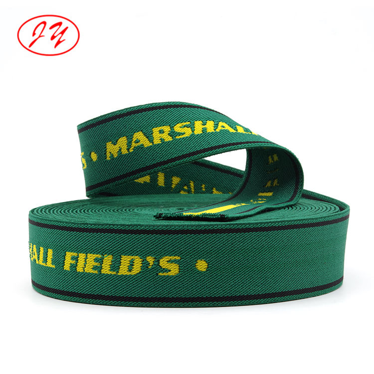 Manufacture and wholesale Polyester mixed cotton material 40mm custom jacquard webbing bands