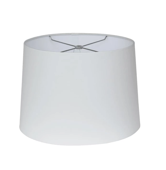hardwire off white linen round lamp shade for table lamp chinese hotel lamp shade modern