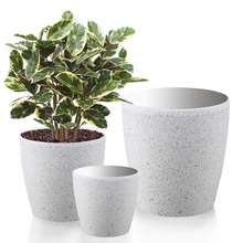 white Sandstone Resin flower pot