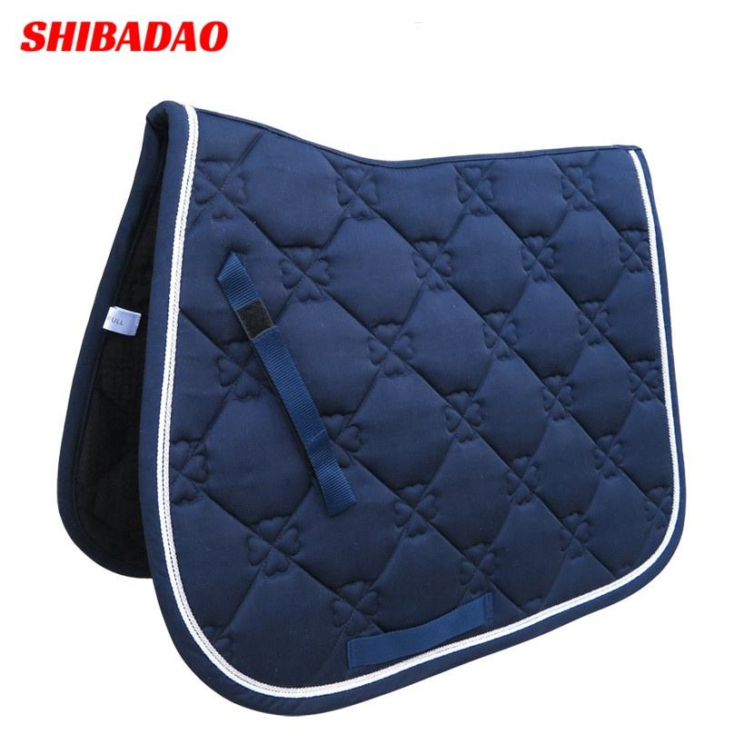 Multicolor Breathable Polyester Filling Dressage Horse Pad Western Equestrian Horse Saddle