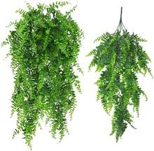 Artificial Fern Hanging Outdoor UV Resistant artificial hanging leaves For Decoration