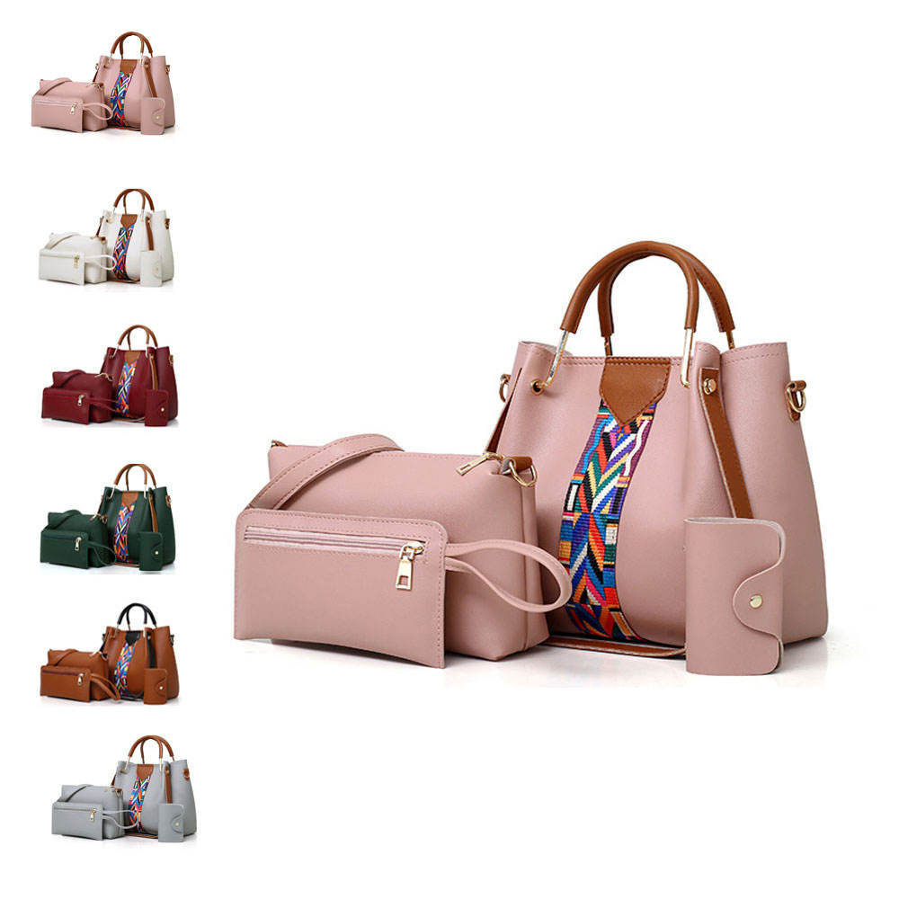 Free samples 6pcs in 1 designer handbag 6pcs in 1 purses and handbags aa designer handbags wholesale