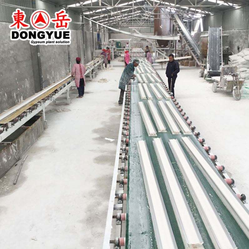 gypsum powder plant machine/gypsum cornice making production line