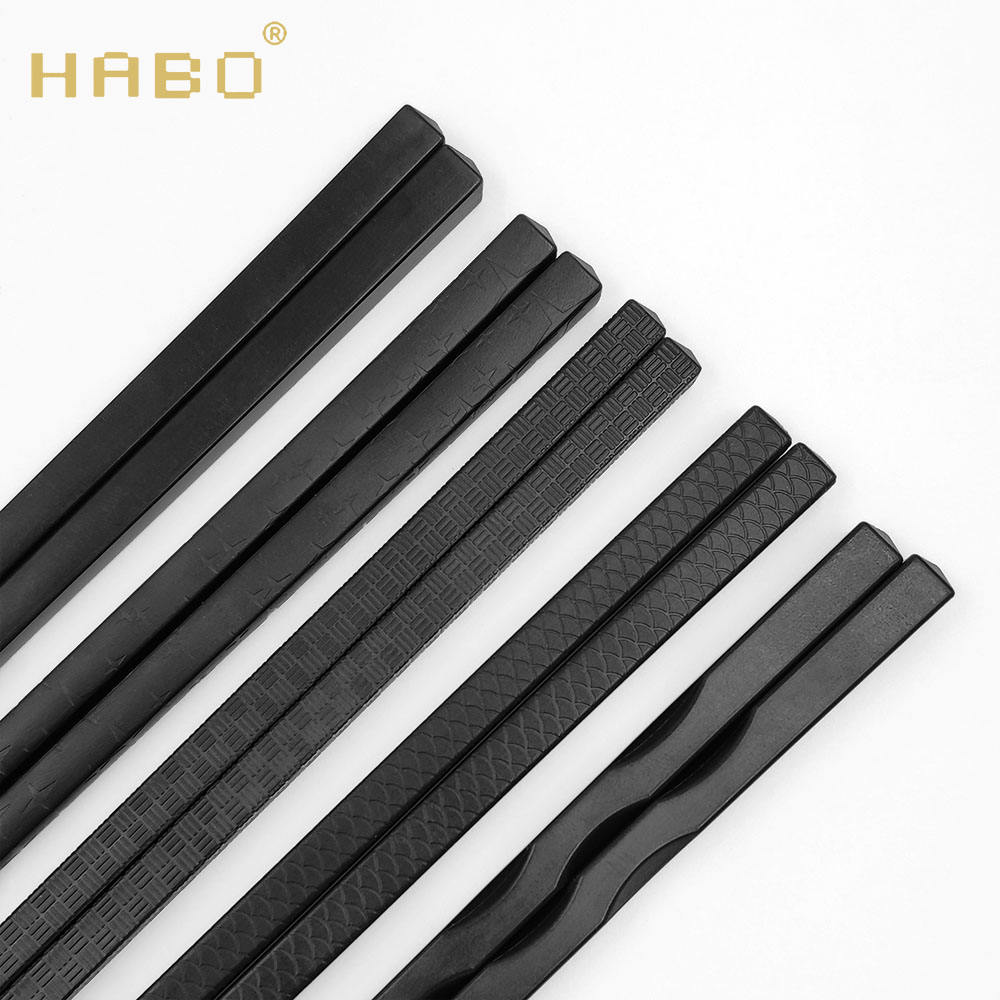 Hotel special environmentally friendly pure black plastic alloy chopsticks