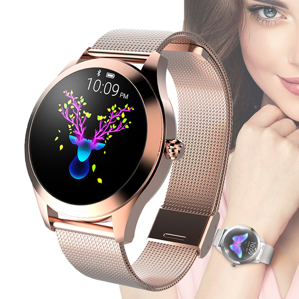KW10 smartwatch 2020 Fashion women waterproof heart rate monitor message fitness pro smart watch K10