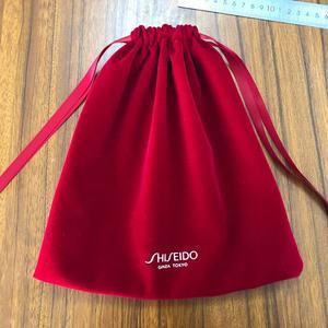 Red Black Velvet Cotton Linen Packaging Bag For Cosmetic