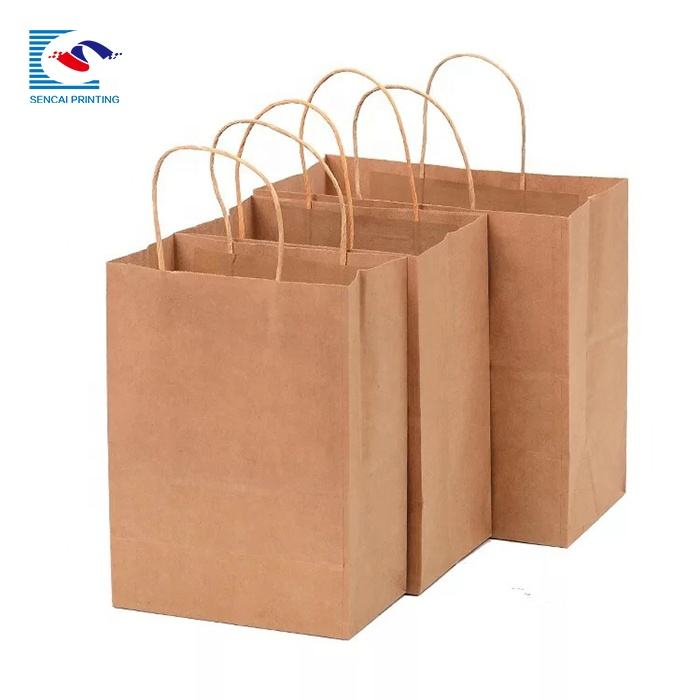 Wholesale custom logo paper bag white high quality cheaper paper bags