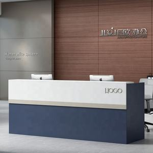 Modern Design Office Counter Solid wood MDF Table Commercial Reception Desk
