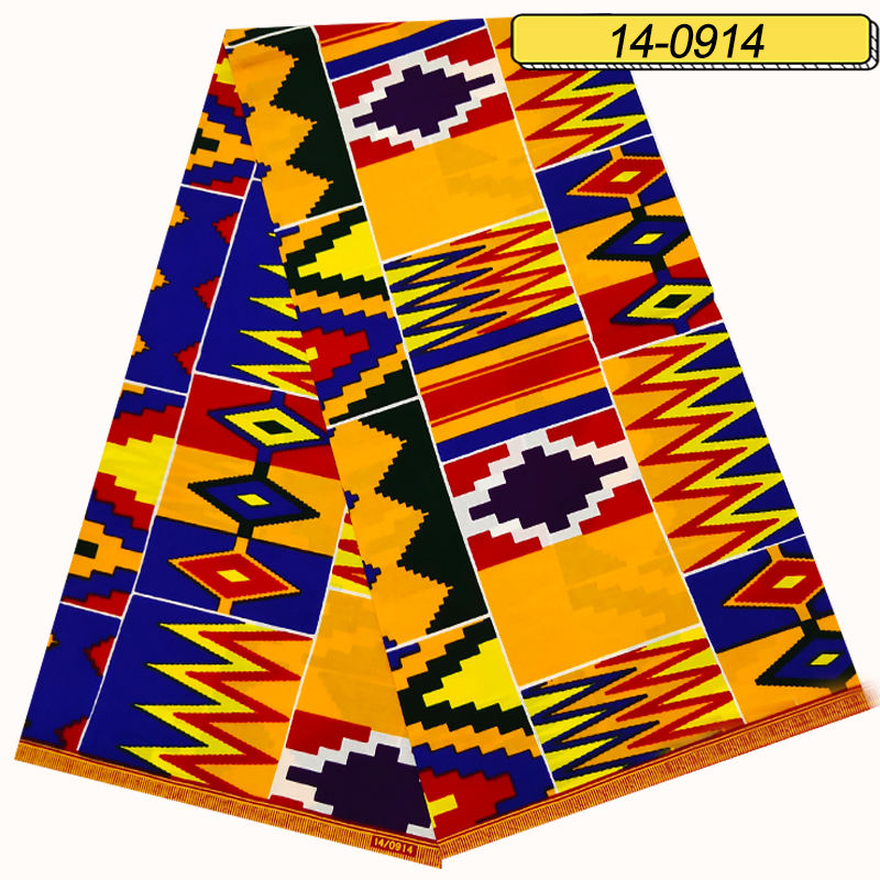Hot Design 100% Cotton Ankara Fabric African Wax Kente Cloth Ghana