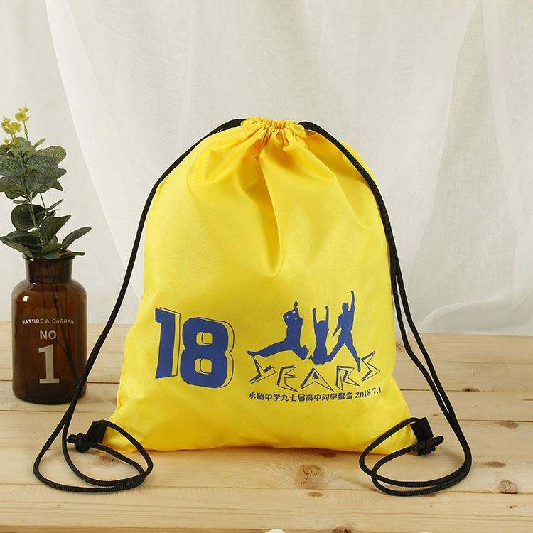 High quality best sale customized logo sports draw string bag
