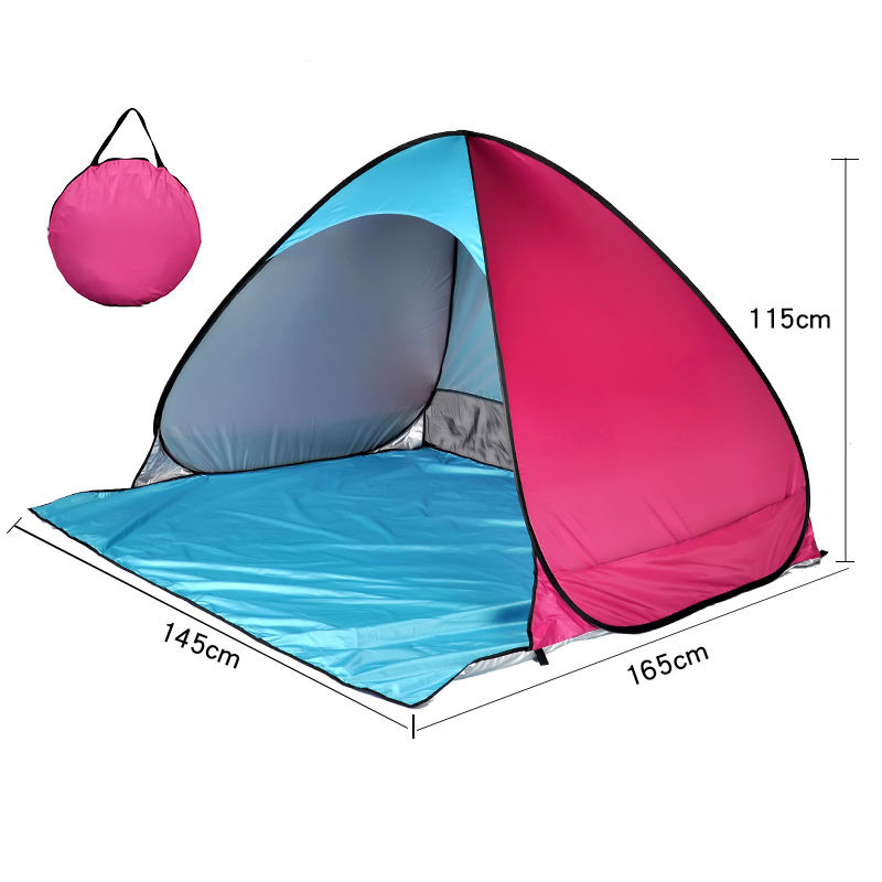 2020 red foldable collapsible camping portable instant popup pop up sunshade sun shelter beach shade tent for beach
