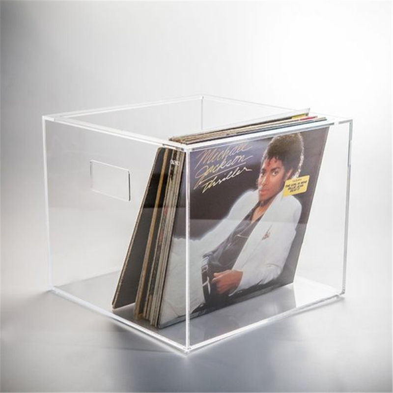 Luxury clear lucite CD storages gift cases acrylic vinyl record holder box