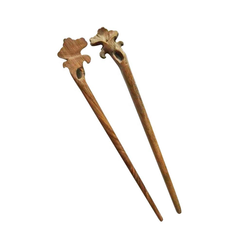Ancient Chinese natural sandal wood hair stick,chopsticks for hair