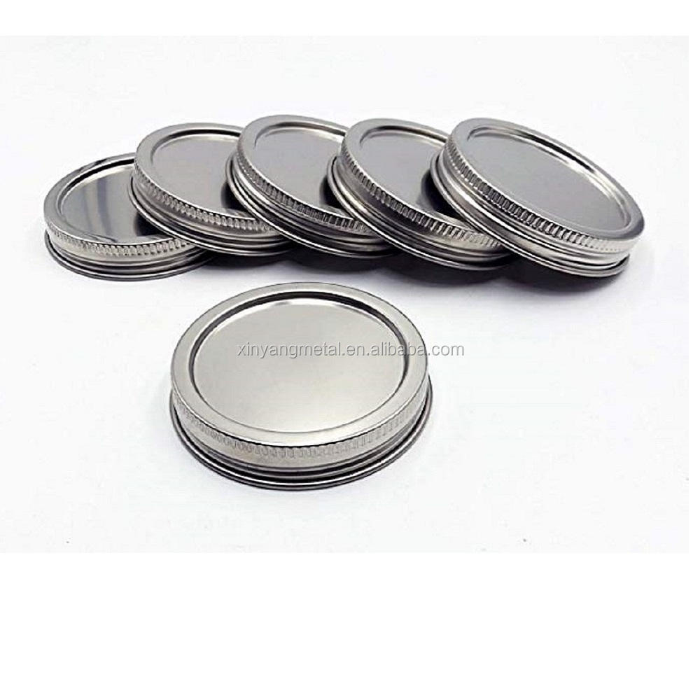 Airtight Rust-proof and Leak-proof Metal Stainless Steel Canning Jar Lids Glass Cover for Kerr Ball Mason Wide & Regular Mouth