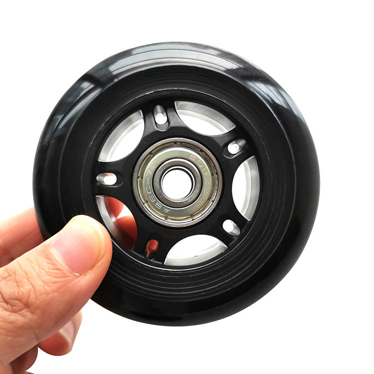 76mm hot sale high rebound inline skate wheel PU roller with 608 bearing