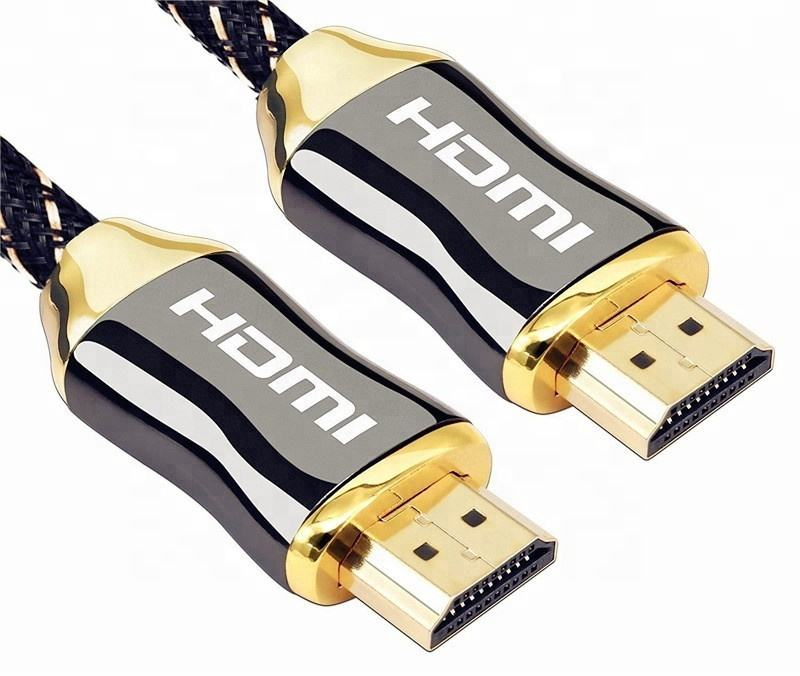 Vnew cheap factory price hot sell High Speed 4K 3D nylon braid high quality 1080P/2160P hdmi cable 2 m