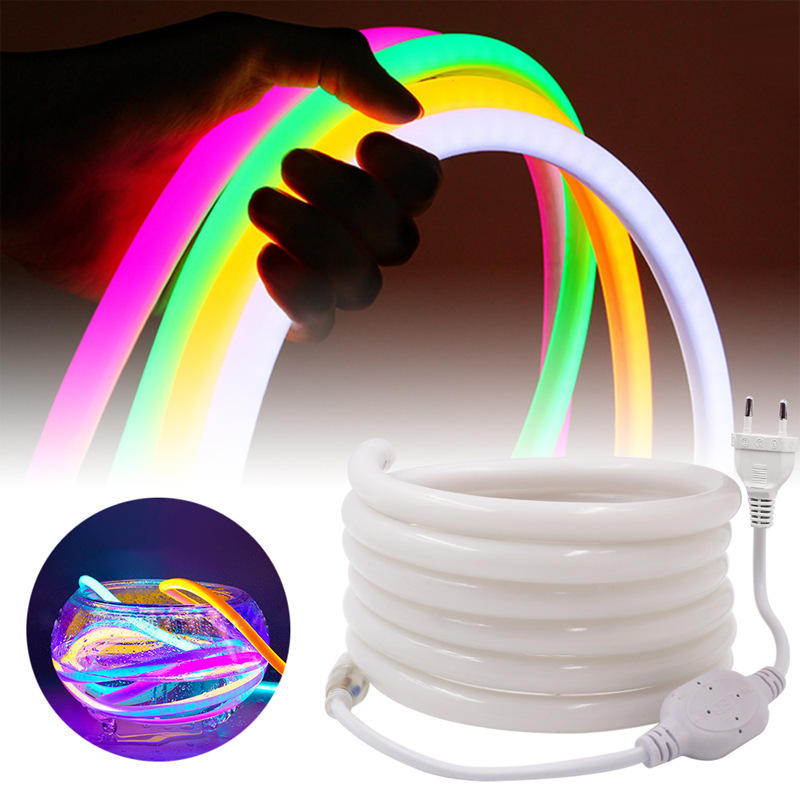 LED Strip 12V SMD2835 Neon Light 320 Round Flexible Home Outdoor Christmas Holiday Waterproof Light Strip Car Fairy String Light