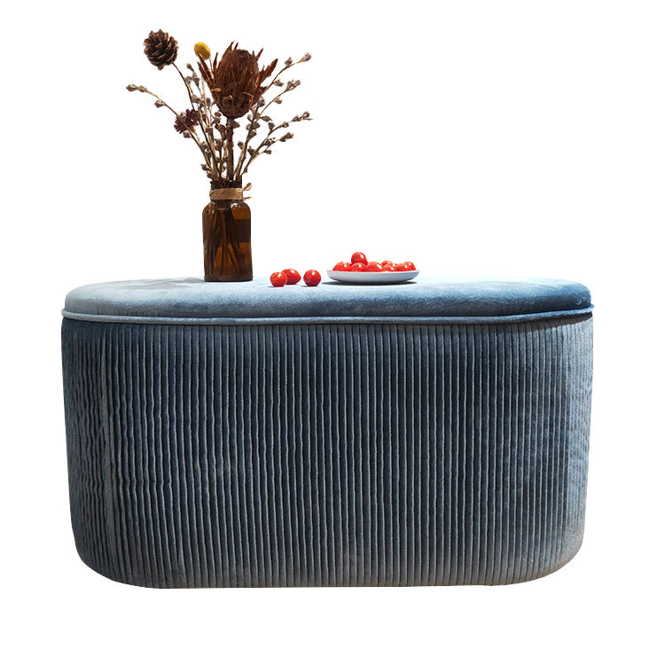 Customized new fashion factory supply wholesale fabric lazy chair sofa indoor lounge modern ottoman large stool bench