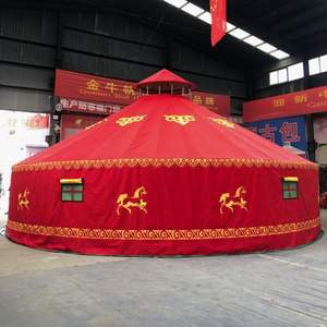 10 Meters Diameter Steel Frame Large Tent With Wooden Door Mongolian Yurt