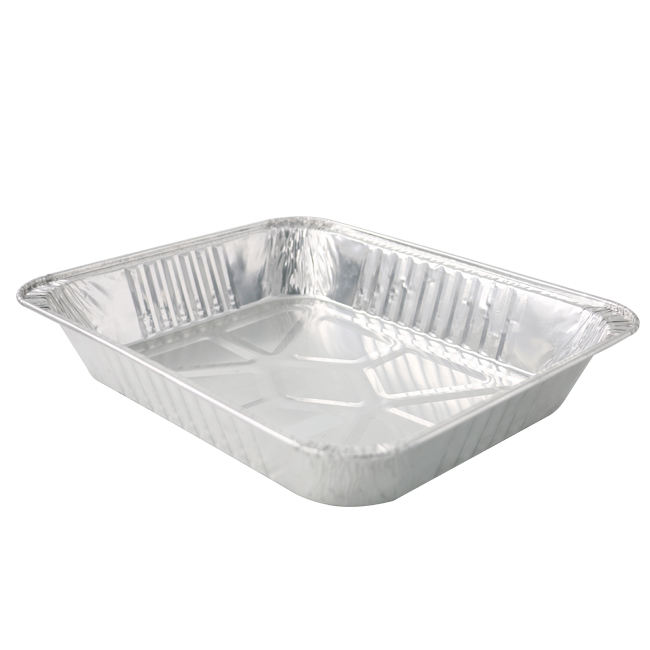 disposable aluminium foil bbq grill pan half size medium aluminum foil container