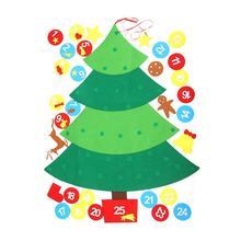 Ourwarm Xmas Decoration Gifts DIY Felt Christmas Wall Tree With Ornament Set For Kids