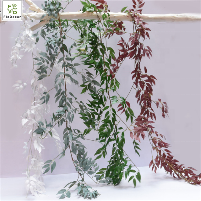 Hot selling Artificial Willow Garland Vine Leaves for Wedding Stage Decoration Party Hotel Wall Backdrop Flower Arrangement