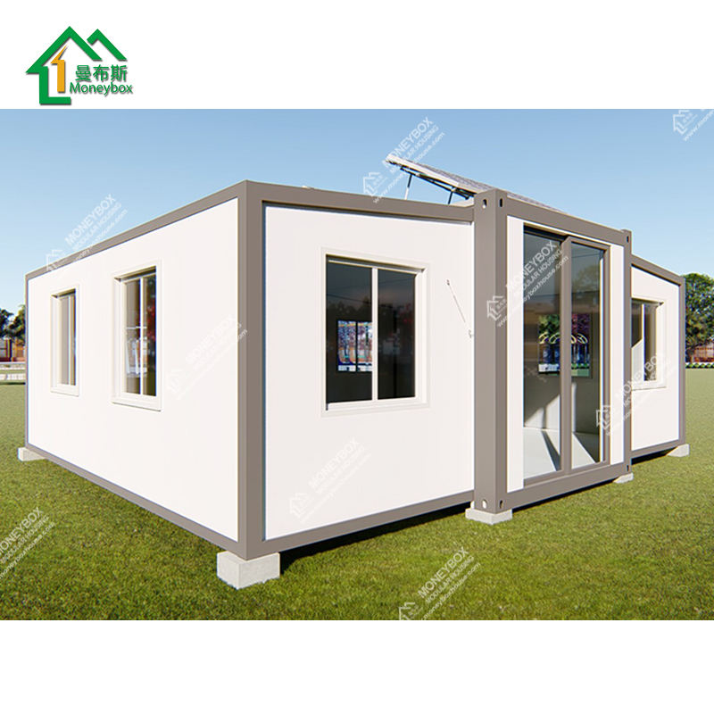 20ft luxury large space expandable container pop up modular prefab solar panel container house